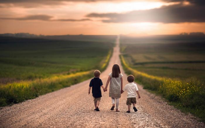 дети дорога