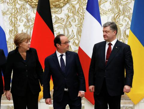 Меркель, Олланд, Порошенко